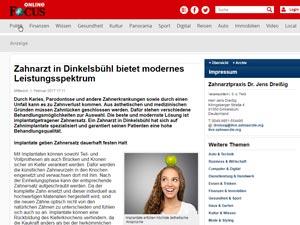 Medien artikel Focus ZA 30